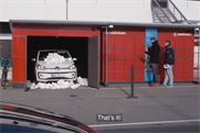 VW posts a car to a parcel locker in Danish film