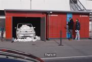 VW posts a car to a parcel locker in Danish film