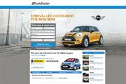 Auto Trader: an example of a homepage takeover to be offered on its relaunched website