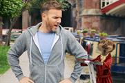 Gary Barlow: links up with meerkat Aleksander Orlov for Comparethemarket.com