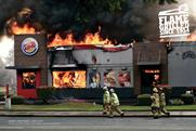 Burger King campaign showing restaurants on fire scoops Print & Publishing Grand Prix