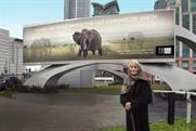 Born Free Foundation: charity founder Virginia McKenna and campaign poster