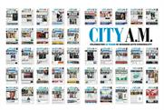 City AM: the cover wrap celebrates the newspaper's 10th anniversary