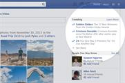 Facebook: launches trending topics feature