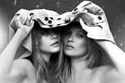 Ads starring Kate Moss and Cara Delevingne, promotes Burberry's monogramming service