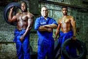 No models required: Kwik Fit employees help to launch the campaign