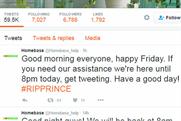 DIY chain Homebase deletes 'tasteless' Prince tweet