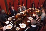 Round the table (Clockwise from left) Trevor Robinson OBE, Jonathan Lewis, Adrian Barrick, Mike Parfitt, Mathilde Verron, Jonathan Nash, Duane Thompson, James Burgess, Zoe Harris, Nick Reid