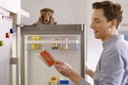 Rustlers: burger ad features the debut of the hunger monkey