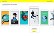 Snap Ad: templates on Snap Publisher