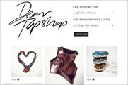 Dear Topshop: gift guide campaign launches on Pinterest