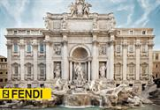 Rome: the Trevi Fountain is being restored by fashion brand Fendi