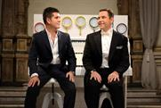 Cowell and Walliams at the organ