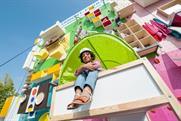 Ikea transforms living room into vertical climbing wall