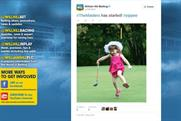William Hill: This tweet featuring a child was posted on April 9