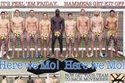 The Sun's page 3: West Ham team members get their kit off for Movember campaign