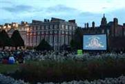 One of Haagen-Dazs film experiences at Hampton Court Palace