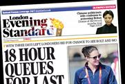 London Evening Standard: to publish first variable-run cover wrap