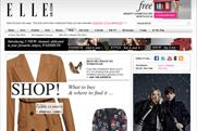 ElleUK website: Shop channel