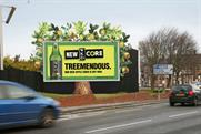 Joint campaign: impression of outdoor promotion for WKD Core