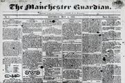 Manchester Guardian: newspaper's first front page from 5 May1821
