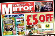 Sunday Mirror: lured in close to two million readers last weekend