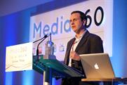 Jon O'Donnell, group commercial director at the Evening Standard, Independent, i, Independent on Sunday on stage at Media 360