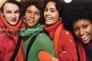 Benetton: backs autumn collection with interactive website