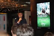 Rob Atkinson, COO, Clear Channel tries out the stand-up routine