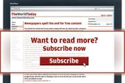 Newspapers signal the end for free content