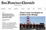 The San Francisco Chronicle: introduces paywall