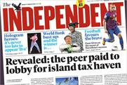 The Independent: cover price rises to £1.20 next week