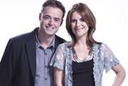 All smiles: presenters Jamie Theakston and Harriet Scott of Heart 106.2