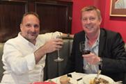 Out to lunch: David Emin and Mark Hollinshead