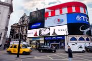 Vogue models hit Piccadilly screens