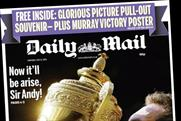 Daily Mail: joins other national newspapers in celebrating Andy Murray's win