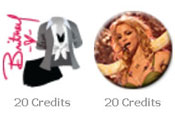 Britney Facebook gifts: costing $2 each