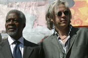 Annan and Geldof: launch global climate change campaign