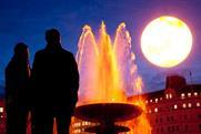 The Tropicana sun rises over Trafalgar Square