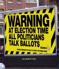 Ginsters: 'political' poster campaign