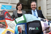 Marks and Spencer: presents quilt to the Department of the Environment