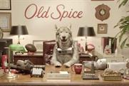 Old Spice: new marketing director Mr Wolf dog