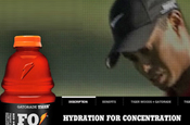 Gatorade: Tiger drink dropped