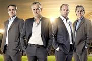 BBC World Cup presenters: Alan Hansen, Gary Lineker, Alan Shearer and Mark Lawrenson