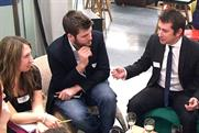 Nick Bampton: NABS President heads a speed-mentoring session