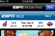 ESPN ScoreCenter: available as an Apple app