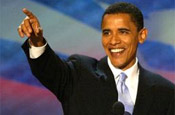 Obama: blazing a campaigning trail