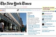 NYTimes adds Facebook feature ahead of paywall