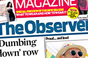 The Observer: loses sections and glossy magazines