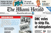 Miami Herald: fall in second quarter ad revenues
